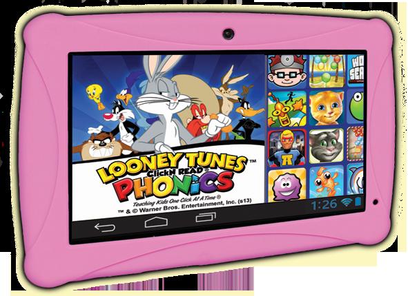 Pink Clickn kids tablet