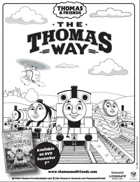 The Thomas Way Coloring Sheet