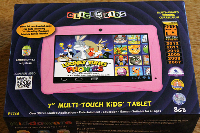 ckickn kids tablet box