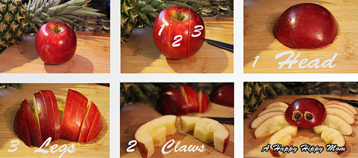 Simple Apple Crab Cutting