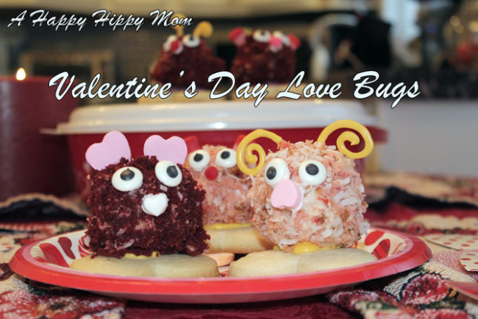 Valentine's Day Love Bugs Cake Balls