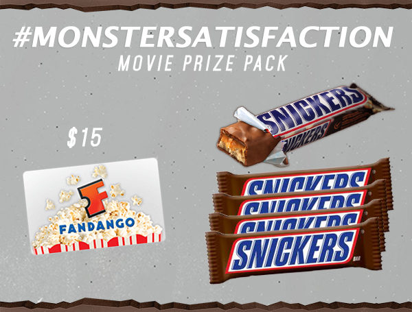 Snickers #MONSTERSATISFACTION Movie Prize Pack Giveaway!