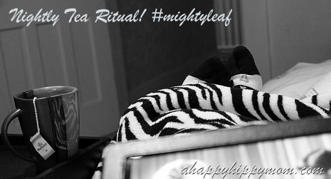 Nightly Tea Ritual #mightyleaf