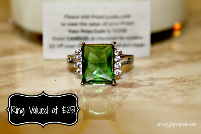 Prize Candle Ring $25