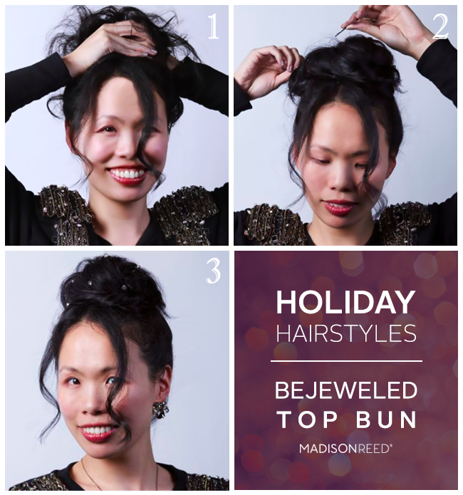 Holiday Hair Tutorials with Bling!