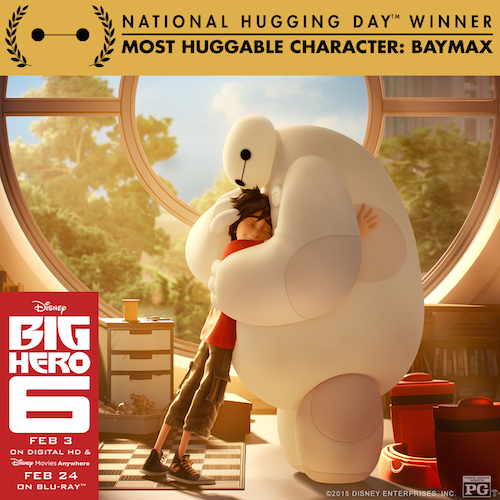 Happy National Hugging Day – 10 Benefits of Hugging! #Baymax #NationalHugDay