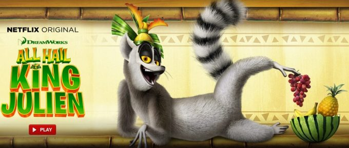 Netflix New Episodes of All Hail King Julien!  #StreamTeam