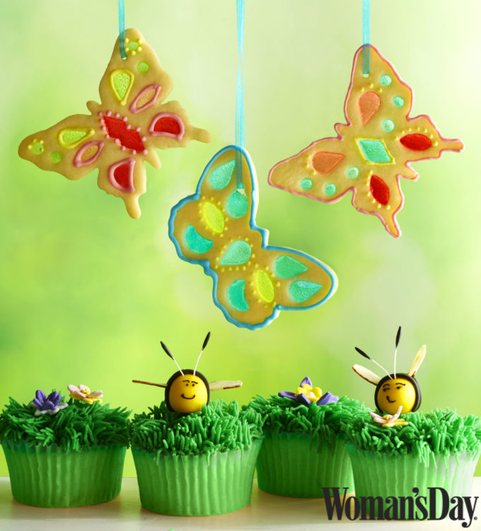 Stained glass butterfly cookies and Lemon Cupcakes Recipes!