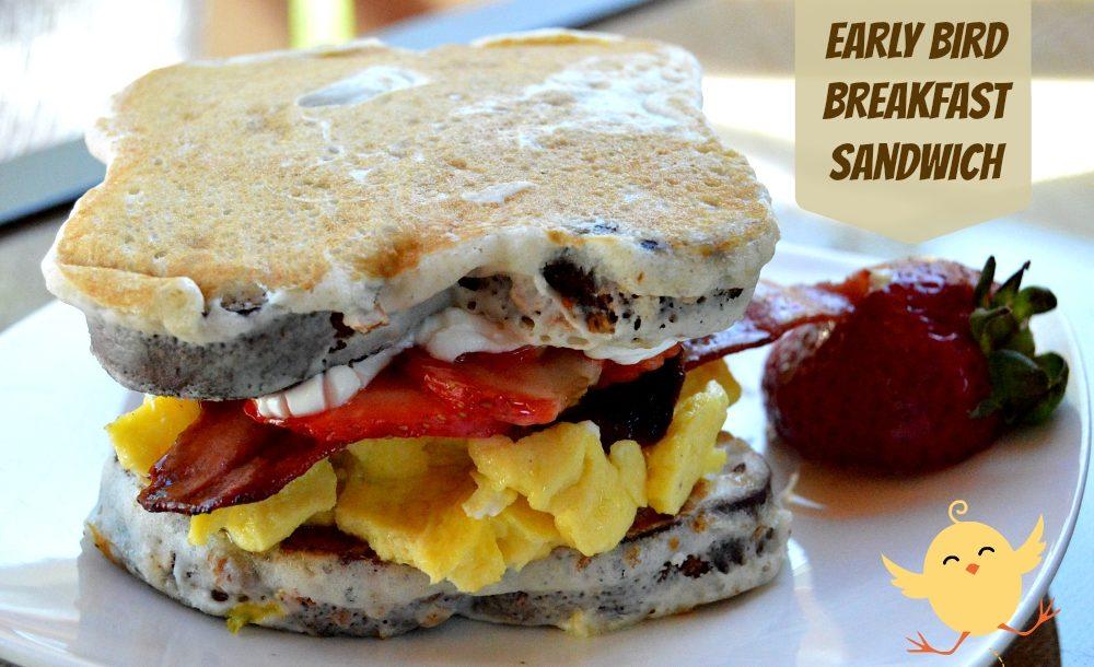 Early Bird Breakfast Sandwich 1