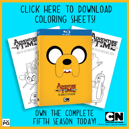 FREE Adventure Time Coloring Sheets!