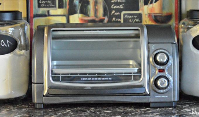 Hamilton Beach Easy Reach Toaster Oven, Easy Hard Boiled Eggs, & Giveaway! #easyreach