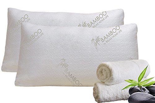 Bamboo By Relax Home Life Shredded Memory Foam Bamboo Pillow