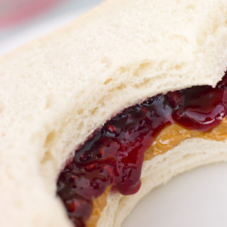 Peanut Butter And Raspberry Jelly Sandwich