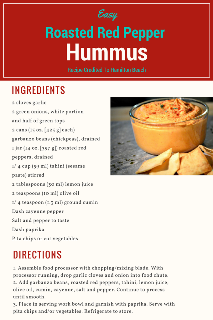 Easy red pepper hummus recipe dishmaps for Roasted red pepper hummus recipes