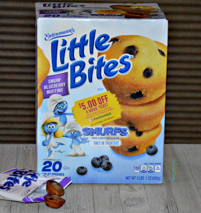 Entenmann's Little Bites Smurf Blueberry Muffins on-pack promotion