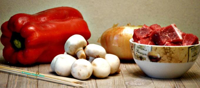 veggies and steak