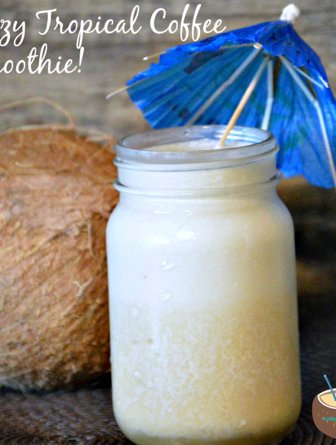 Boozy Tropical Coffee Smoothie