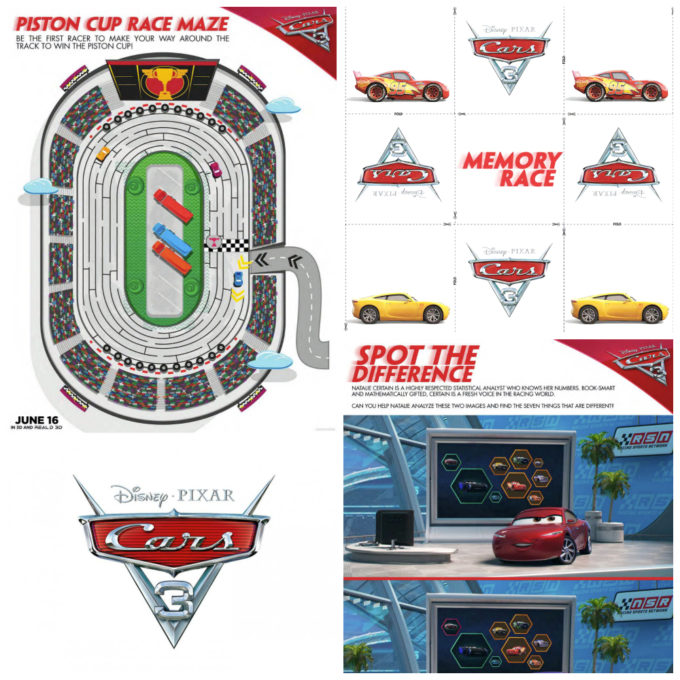 CARS 3 Free Printables & New Trailer