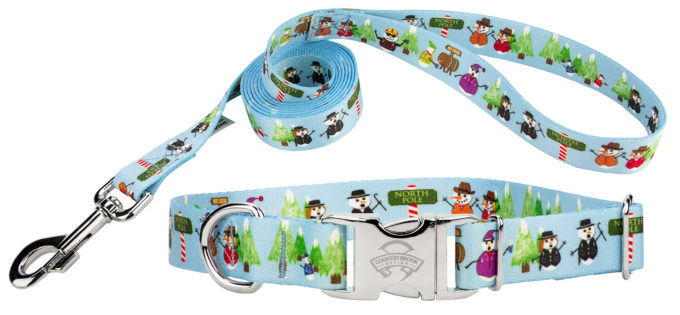 Snowman Party Collar.Leash
